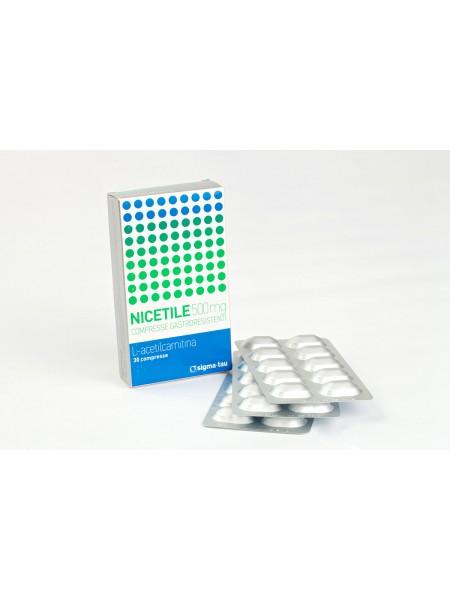 Ницетил Nicetile 500 mg №30